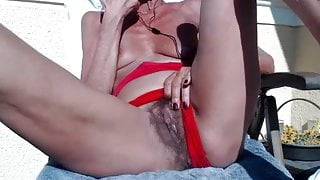 The granny Pilar play with her pussy