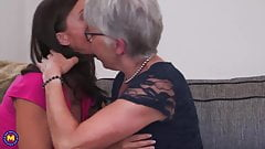 Granny seduce MILF