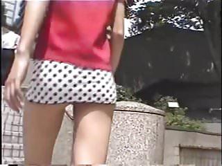 Micro mini small bikini Micro mini skirt and white panties