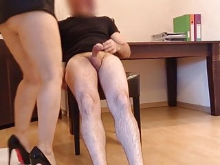 Latex creampie Creampie in office with my boss