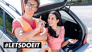 LETSDOEIT - Kinky Slut Pays Car Repairs With Her Pussy
