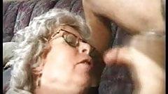 Older woman sucks man - vintage french
