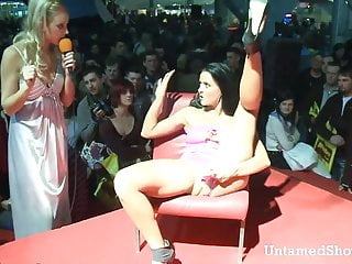 Wild pussy beach party free Slutty stripper going wild at the sex show