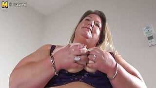 Naughty big booty Dutch BBW STEP MOM and her toy