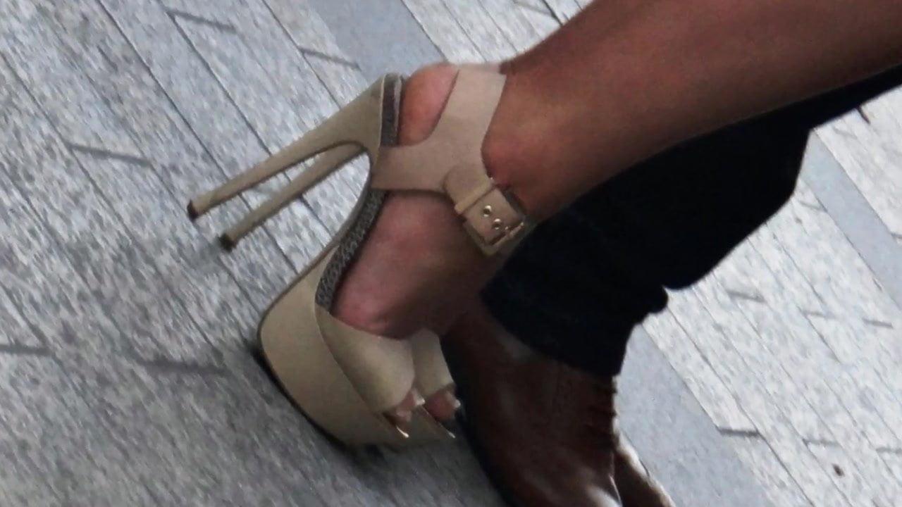 High Heel Stocking Nylon Feet