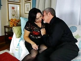 Old sloppy tits Cute and cuddly old spunker gives an amazing sloppy blowjob