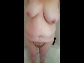 Sexy hair concepts shampoo Wife washes her hair,shampoo runs down her tits,hairy pussy