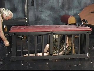 Sex with soldiers before they deploy Young soldier girl in a cage is taken out for torture session on a bdsm wheel