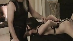 bound wife blowjob in home amateur bdsm