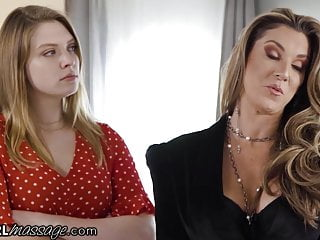 Lesbian audition - Milf audits massage parlor winds up fucking 2 lesbian babe