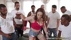 BBC Slut Carmen Valentina Pays With Gangbang Coin