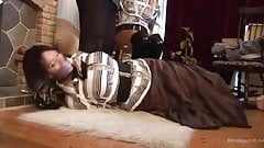 Lucy Hogtied and Frankie Chair Tied