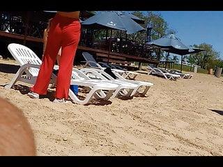 Asian girls wearing thongs Two hot thong-wearing teen whores at the beach