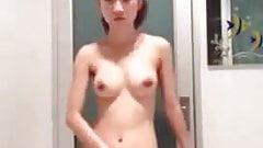 Cute little Asian show off