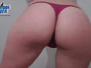 Tiny ass pussy - Best ass ever pulling out pussy lips out from tiny thong