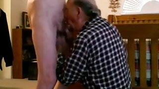 Old man sucks off twink and swallows cum