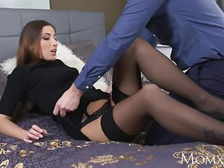 Suspended cunt Mom seductive french milf in sexy stockings and suspenders