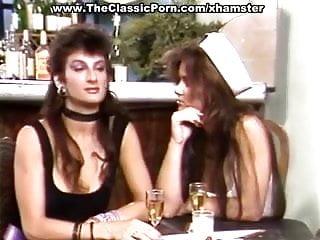 Vintage photoshop action - Hot retro ladies in lesbian action