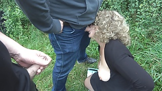 Dogging cum dump Jessica fucked by lots of strangers