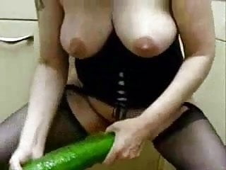 Extreme voyeur - How to use a giant cucumber. amateur extreme
