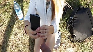 Stranger flashing teen in public park