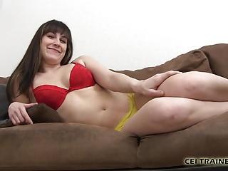 Slut girl tricked into swallowing cum - Eat your cum for me you little slut cei