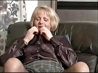 Stripping matures - Hairy mature strips with superb commentary