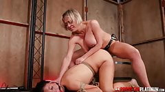 PORNSTARPLATINUM – MILF Dee Williams Strap-On Fucks Young Sub