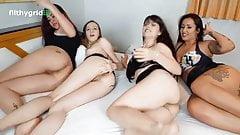 Fart competition between 4 friends - Cum Tribute Brazil