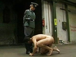 Adult died holocaust jew - Naked jew kissing the boots of his captor