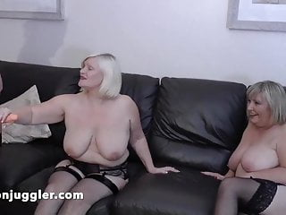 Auntie lesbian - Huge tits aunties using a young bbw lesbian for sex