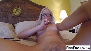 Elsa's home video masturbation