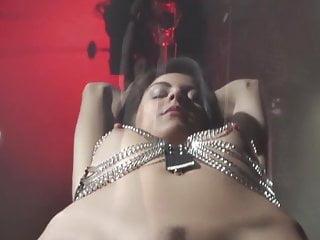 Female leather bondage harness - Hot latina girl in harness bondage fucked