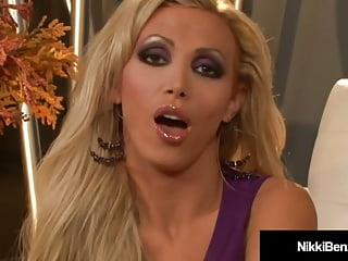 Penthouse pet porn - Penthouse pet nikki benz gets cum on her big tits