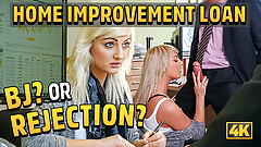 LOAN4K. Blonde-haired Katy hopes to get a loan but agent
