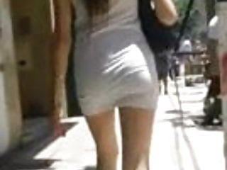Teen candid upskirt Sexy candid ass in skirt walking in sunshine