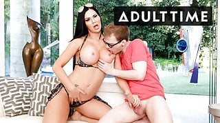 MILF With MASSIVE Tits Tempts Stepson's Naive BFF With Ease