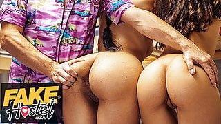 Fake Hostel Halloween big ass latina teen threesome
