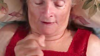 Grandma milks him dry
