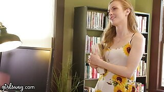 Hot Threesome At The Library With Penny Pax and Karla Kush
