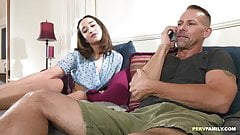 Stepdaughter hops on dick as a thank you