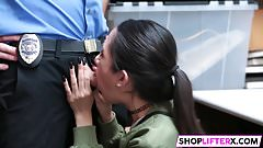 Shoplifter Jade Noir Gets Rammed For Theft