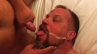 Bears and step daddys eating cum