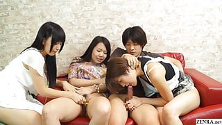 JAV having sex while my friend watches begins Subtitled