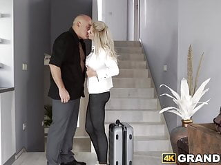 Senior old big dicks - Spicy blonde babe stretched by big dicked senior