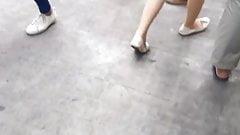 Thailändisches sexy sexy Beine Bangkok beschuht Haar sexy