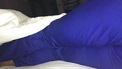 Booty in scrubs in bed