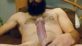 Bearded Str8 Daddy cums on cam #66