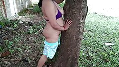 stepmom fingering wet pussy and expose herself in public