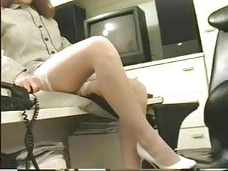 Retired busty secretary video Hot busty secretary in glasses masturbates her wet pussy